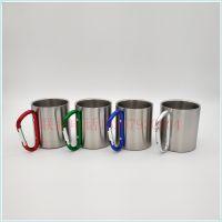 速卖通爆款双层不锈钢咖啡杯 户外登山水杯 马克杯批发定制
