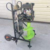 大马力大棚建设新型螺旋式埋桩机 栽树种树茶树栽种钻孔机 驰航挖坑机