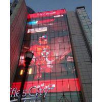 玻璃幕墙led透明屏通透率高90%瑞普创新河南led透明屏案例
