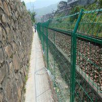 浸塑铁丝网 河道水库防护栏 高速公路护栏网