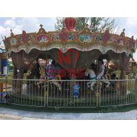 郑州宏德游乐热销游艺机旋转木马新款上传动豪华转马公园人气旺游乐设施