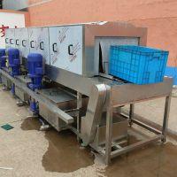 山东富扬专业生产洗筐机 鸡笼子清洗机 高压喷淋塑料筐清洗机