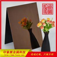 咖啡色不锈钢板图片/佛山彩色不锈钢镜面咖啡色板材供应