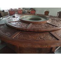 高档电动静音圆桌 自动餐桌 实木餐桌 圆形电动餐桌 智能电动餐桌