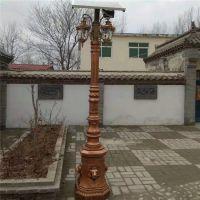 厂家出售新农村LED太阳能路灯/ 美丽乡村专用高杆路灯杆欧式景观仿古灯座