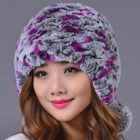 獭兔毛皮草帽子兔毛女帽韩版可爱女生冬天护耳包头帽加厚保暖帽子