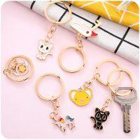 创意金属钥匙扣圈时尚韩版可爱猫咪学生卡通背包书包装饰挂件批发