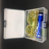 汽车空调荧光捡漏工具冷媒灯荧光眼镜手电筒检漏仪套装空调维修