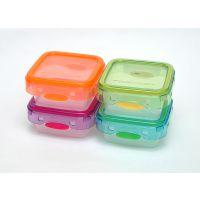 【香港品牌】透明方形230ML pp塑料保鲜盒饭盒 冰箱保鲜食品储存盒 创意便当盒餐盒