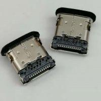 板上型TYPE-C防水母座 24P/四脚插板/前插后贴/板上高度3.96/带柱/带胶圈/黑胶