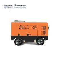 中风压开山空压机13公斤10立方喷浆柴油移动螺杆式空压机