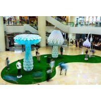 厂家直销 艺术互动设施 led七彩变形发光蘑菇树