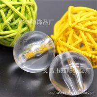 厂家直销透明圆珠 亚克力果冻珠子 散珠 小孔珠 果冻圆珠 4-20mm