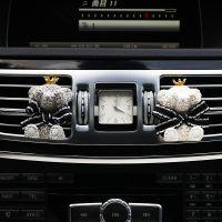 泰迪熊汽车空调出风口香水夹装饰石膏车载香薰车内装饰女送精油