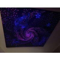 山西太原家庭影院智能模块风暴定制造型光纤吊顶光纤丝聚酯纤维星光板吸音美化