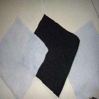 批发黑色抗紫外线土工布 涤纶300g黑色抗老化短纤土工布