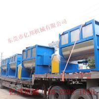 直销深圳2吨大型卧式干粉搅拌机 梅州硅胶粉体加液体混料机 板厚耐用