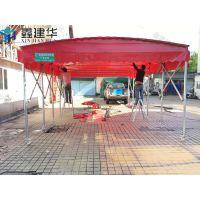 东莞市清溪镇户外推拉雨棚布 楼顶遮雨篷 特色烧烤篷怎么安装