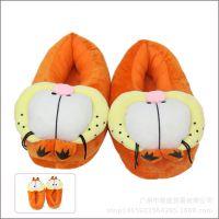 加菲猫欧美影视周边毛毛鞋 居家软底冬季保暖棉鞋咖啡猫棉拖28cm