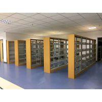 钢制书架 现代 档案资料铁架 木纹边框密集架 重庆书架 生产厂家
