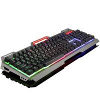 如意鸟机械手感背光游戏有线键盘 台式电脑笔记本USB悬浮金属发光