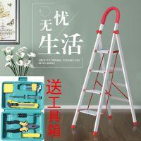 铝合金家用折叠梯加厚梯子梯子人字梯四步五步室内扶梯楼梯