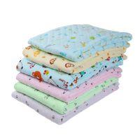 29纯棉柔软亲肤婴儿保暖包被卡通多色90*90仿丝绵儿童包巾批发