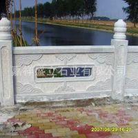 河边水塘石雕栏杆厂家定做 花岗岩石护栏拱桥石栏板