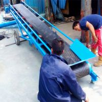 [都用]淮南市散料输送机 移动式粮食皮带机 600宽颗粒输送机
