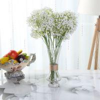 室内装饰仿真植物 长杆白色加密满天星花束 婚宴桌台摆件手捧花