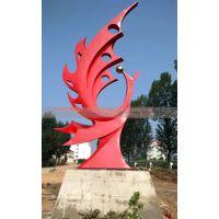8米304不锈钢凤凰雕塑 抽象凤凰不锈钢雕塑