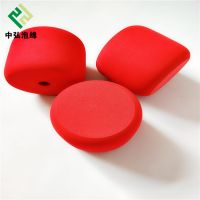 厂家定做EVA泡绵研磨产品 大红色高弹EVA泡绵锤成型