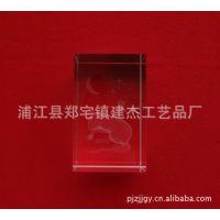 批发供应水晶内雕工艺品  工艺品万年红  水晶十二生肖  水晶鼠