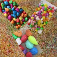 五彩鹅卵石 花卉铺面水培装饰  造景用彩色砾石
