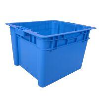 厂家直销物流周转筐 450-280错位箱塑料周转物流箱可堆式周转箱 江苏林辉可定制