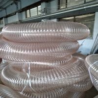 PU吸粉尘管河北PU细粒输送管内覆钢丝防静电