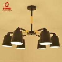 北欧创意客厅吊灯后现代简约个性餐厅灯工业风铁艺服装店艺术灯具