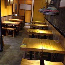 广州日式粉面店家具定制,粉面馆餐桌椅子组合案例