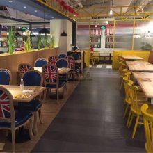 特色主题菜馆家具配套定做,湘菜馆实木椅子桌子组合效果