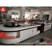 现代中式自助餐厅装修设计 可变色餐台定制 大理石吧台制作