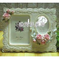 欧佰纳家居饰品混批韩版热销田园玫瑰相框相架婚纱礼物