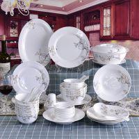 唐山亿美厂家50头陶瓷餐具套装批发定制 创意家用餐具