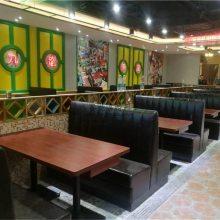 安顺市饭店卡座沙发定做,皮革软包沙发直销工厂