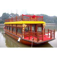 江西画舫船木船厂家 定做观光旅游木船 图片案例设计