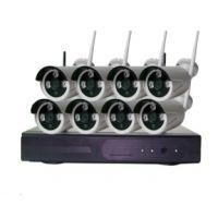 鸿唐200万8路无线户外防水监控套装 1080P即插即用无线网络监控套装