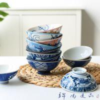 日式创意陶瓷小饭碗米饭碗手绘花朵手工碗窑变餐厅餐具个性和风碗