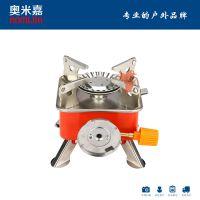 厂家直销 卡式小方炉一体式配电子打火炉头连接扁气罐炉头