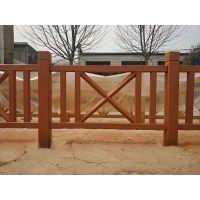 预制装配式水泥仿木栏杆与现浇园林公园围栏河道混凝土护栏的区别