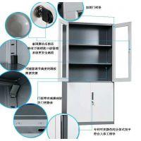 重庆兆信 新款加厚玻璃铁皮柜/文件柜/资料柜/凭证柜 优质供应商