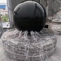 厂家直销石雕喷泉花岗岩风水球庭院园林景观装饰流水转运球喷水摆件